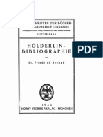 Holderlin Bibliographie Seebass