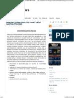 Manufacturing Process - Investment Casting Process ~ Mechanical Guru's