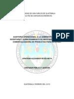 Tesis Auditoria Operacional a La Admon de Inventarios -Usac 2010