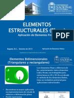 Elementos Estructurales (Bidimensionales, Plane)