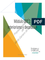 001.1 Modulo 1 Interiorismo y Decoracion