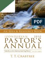 2010 Zondervan Pastor's Annual by T. T. Crabtree, Excerpt