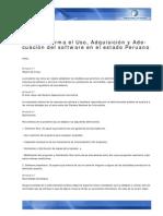 Peru Legislacion Ley de Software Libre Para Administracion Publica (2005)