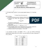 PROBLEMARIO TERMODINÁMICA 2. Mezclas Binarias y Multicomponentes