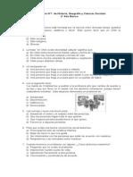 Evaluación N1 Historia Geografía y CS para 4 Básico (f)