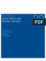 Experience. Social Work and Human Services