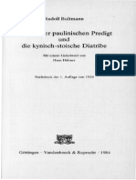 Der Stil Der Paulinischen Predigt Und Die Kynisch-stoische Diatribe