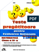 Teste pregatitoare pentru Evaluarea Nationala Matematica TIMSS clasa a IV-a