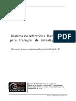 Sistema de referencias Harvard para trabajos de investigación