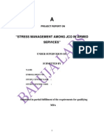 Project on Hr- Stress Management Among Jco in Armed