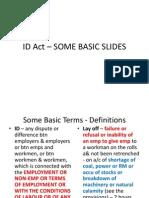Id Act -Basics