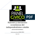 Razones y Sinrazones Economicas Del Independentismo Catalan