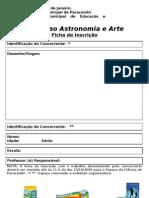 Ficha de Inscrição Concurso Astronomia e Arte