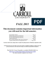 Fa2011 Registration Information