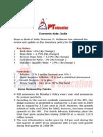 Economic Data India 2009