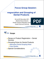 Dental Focus Group November 2011