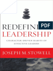 Redefining Leadership by Joseph M. Stowell (Excerpt)