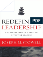 Redefining Leadership by Joseph M. Stowell (Excerpt)