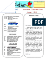 Nov Newsletter 2009