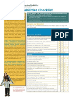 Learning Disability (LD) Checklist