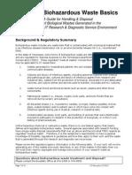 Biohazardous Waste Basics