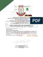 PEREIRA DE ARAUJO declaração