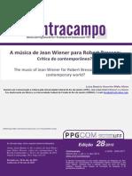 A música de Jean Wiener para Robert Bresson