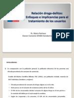 Relación droga-delitos, 2013