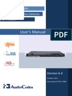 LTRT-27002 Mediant 1000 MSBG User's Manual Ver 6.4