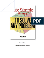 Six Simple Steps to Solve Any Problem