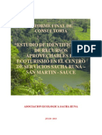 Informe Final Sacha Runa - Oro Verde