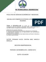Trabajo Fernando Aviles, Cristina Abad, Marcelo Marcillo, Soluciones Ebussines