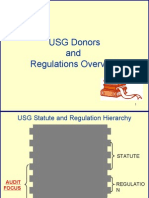 USG Donors and Reg Overview