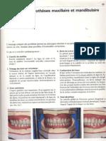 6- Essayage des prothèses maxiliaire et mandibulaire