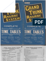 1899 Grand Trunk Railway System Timetable