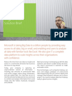 Microsoft Big Data Solution Brief