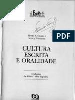 Cultura Escrita e Oralidade