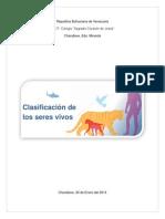 Clasificacion de los seres vivos.docx
