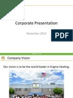 HOTSTART Corporate Presentation 2012 - Standard