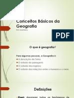 Conceitos Básicos da Geografia