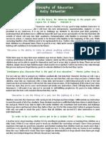 philosophy of education kelly detweiler pdf
