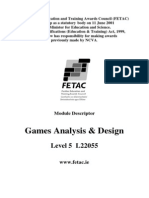 Games Analysis & Design