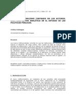 Revista de Ciencia Política INSTITUCIONALISMO
