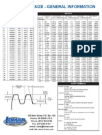 Rack & Pinion Gear Tooth Chart