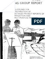 Guidelines DPR Irrigation and Multipurpose Project CWC