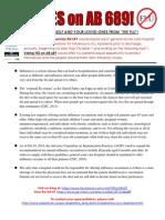 Ab 689 Fact Sheet