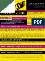YTWSS Public Events