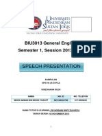 Speech General English