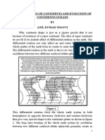 On the Shaping of Continents and Evolution of Continents-oceans