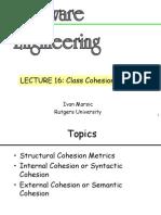 Lec 16 Metrics Cohesion